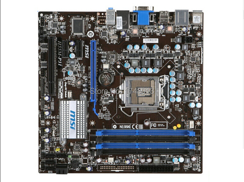 Free shipping 100% original motherboard for MSI H55M-P31 LGA 1156 DDR3 16GB support I3 I5 I7 desktop motherboard(China (Mainland))
