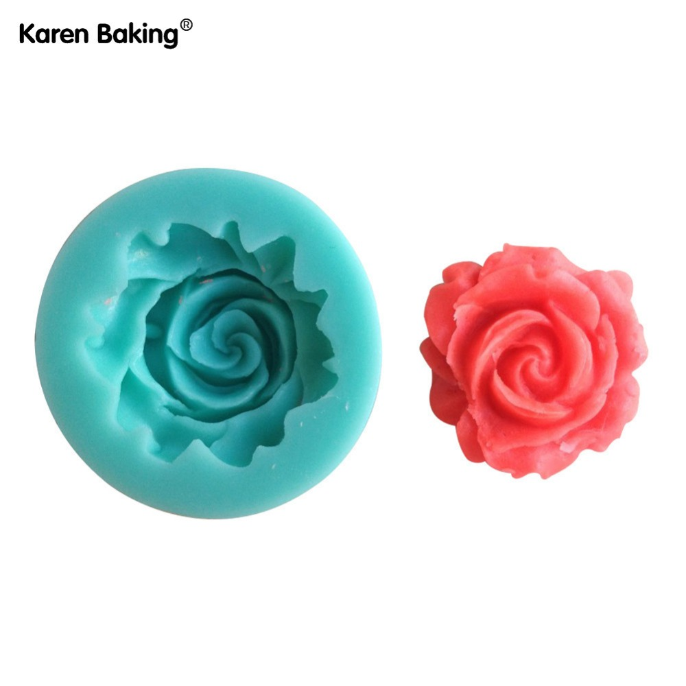 1Pcs Rose Shape Chocolate Candy Jello 3D Silicone Mold Mould Cake Tools Bakeware Pastry Bar Soap Mold C007(China (Mainland))