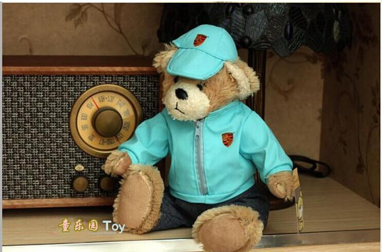 cute plush teddy bear toy Models of bear toy lovely sky blue teddy bear toy bithday gift doll about 30cm(China (Mainland))