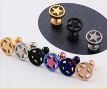 2016 New Real Sterling Jewelry Piercing Jewelry  Shine stud Earrings pendientes mujer boucle d'oreille men earring orecchini(China (Mainland))