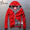 Red Color Quality Winter Jacket Men Zipper Hoodies Windbreaker Mens Casual Sport Sweatshirt Hooded Light Waterproof