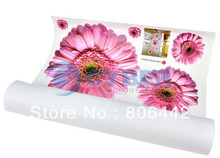 Decorative Combination Pink Romantic Daisy Flowers Art Decor Home Bedroom DIY Removable Wall Sticker Free Shipping 4677(China (Mainland))