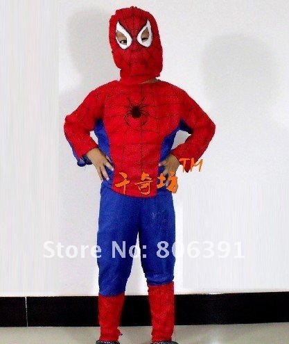 NEW ARRIVAL! 5pcs/lot Halloween fancy dress ball custume,spider-man kids' Halloween clothes,children's Halloween party costume