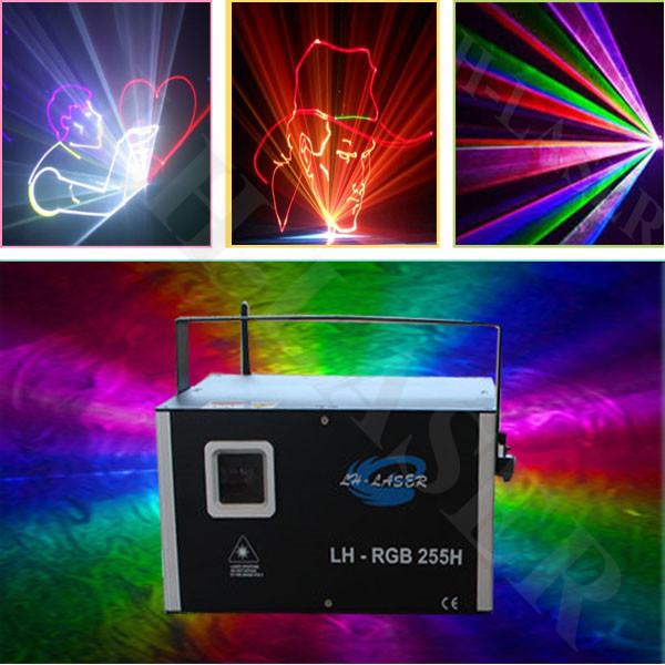 3W Analog sd card full color animations laser light for outdoor logo and advertising projector(China (Mainland))