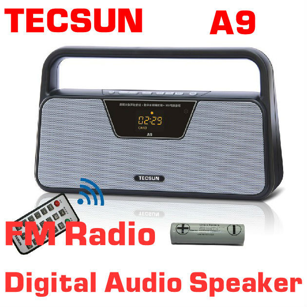 Free Shipping TECSUN A9 FM Stereo Radio Reception LED Digital Display MP3 Player Computer Speaker Radio Receiver Portable Radio(China (Mainland))