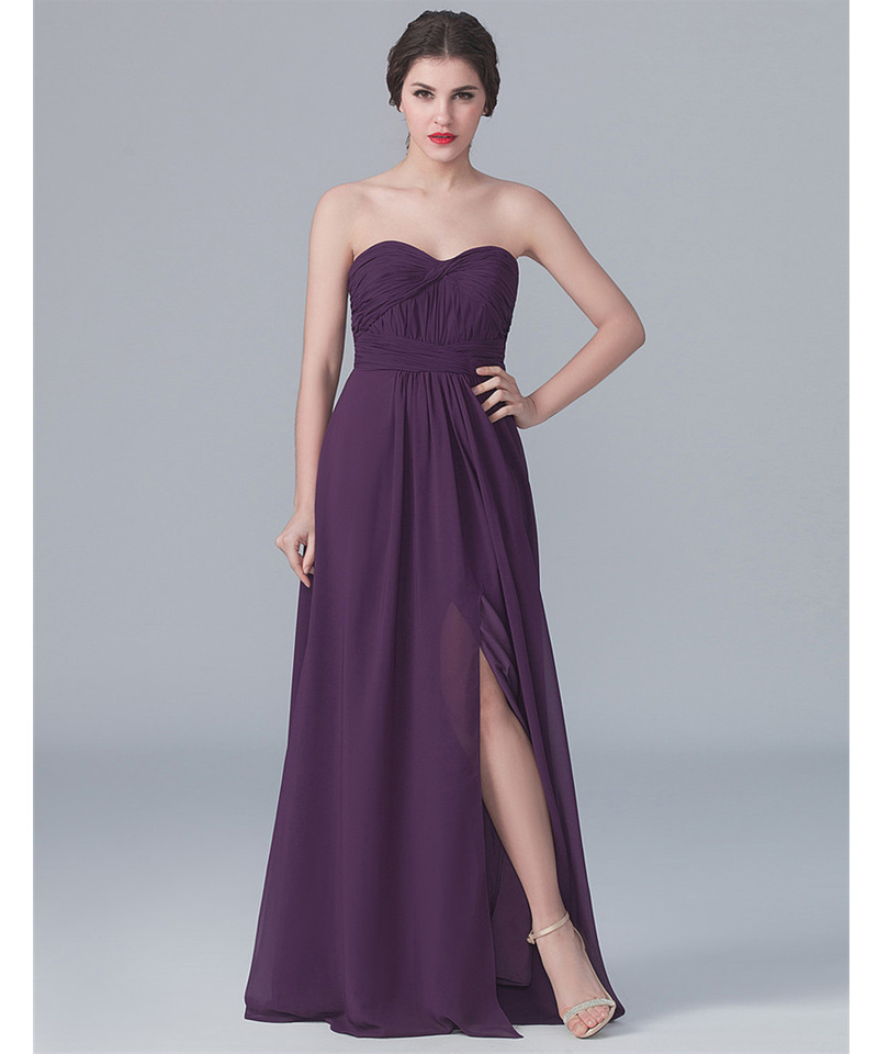 Long purple bridesmaid dresses under 100 flower girl dresses for Long wedding dresses under 100