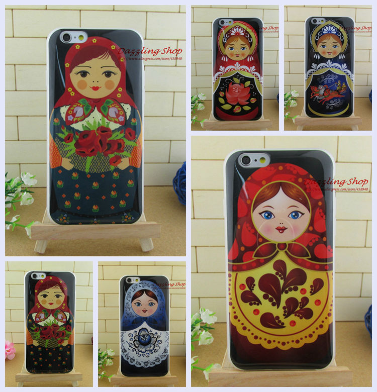 Hit sale original case hot Dirt-resistant soft case for iphone6 (4.7inch) luxury Russian Doll chirstmas gift RIP614102104(China (Mainland))