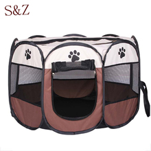 Pet Tent Cage Supplies 600D Oxford Dog Carrier Dog Playpen For Dog Cat Fence Kennel Dog House Outdoor Cat House Playpen Exercise(China (Mainland))