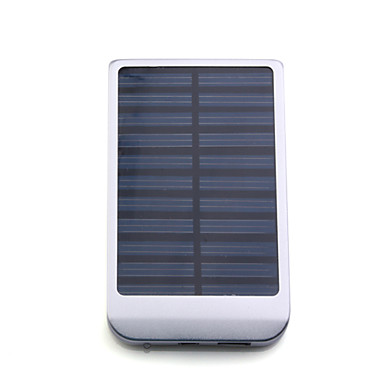 Portable USB Solar Panel Charger power bank External Battery for iPhone 4/3G/3GS/, iPad, Other Smartphone and More (Silver)(China (Mainland))