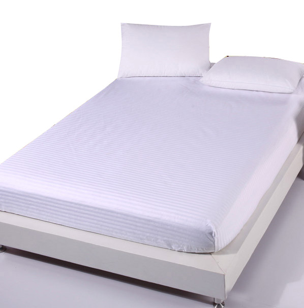 White bed sheet single twin full queen king fitted sheet bed linen bed