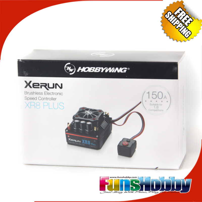 Hobbywing XERUN XR8 Plus 150A Sensor RC ESC Speed Controller For 1:8 Buggy Competition Losi Hongnor COD.30113300(China (Mainland))