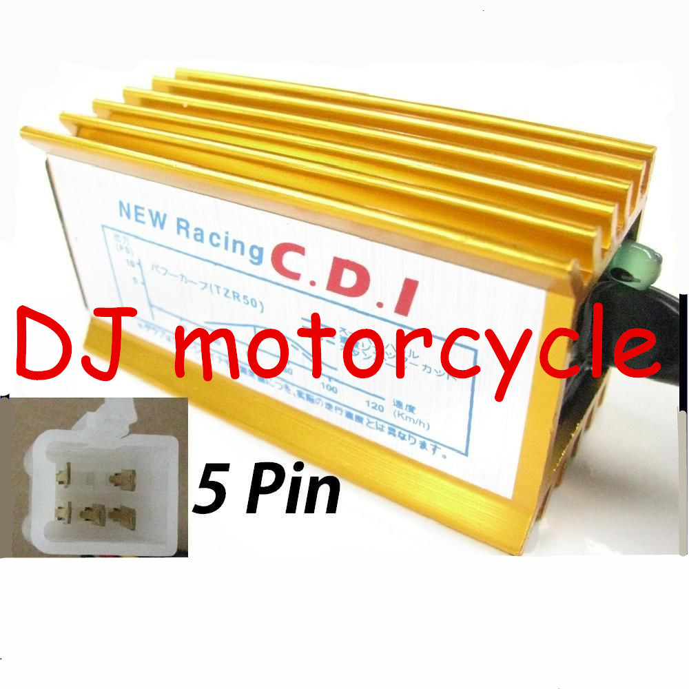 Wholesale 110CC ATV Racing CDI With Red Golden Blue Green Color Avaialble 5 Pin Quality AC CDI Box For Yamaha Dirt Pit Bike 125(China (Mainland))