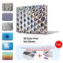 Metallic Silver Pattern Laptop Computer Bag For Apple Mac Macbook Pro 15 For Macbook 12 Inch Case + Silicone Keyboard Cover