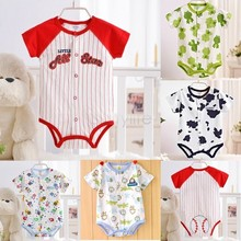 New Arrival Baby Sleep Suit Kids Wear Boy Girls Coverall Baby Jumpsuit One Piece Bodysuit Summer clothing 29(China (Mainland))