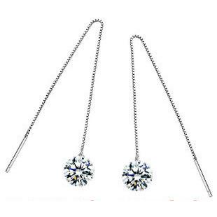 Dangling Earring,Austria Crystal,Genuine SWA Elements,925 Sterling Silver Material OE04