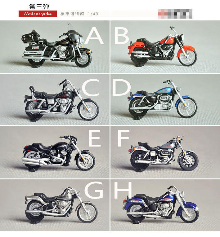 1:43 Mini Motocycle 8 PCS Model Authentic Motobike Model The Locomotive Museum Factory Sale Free Shipping(China (Mainland))
