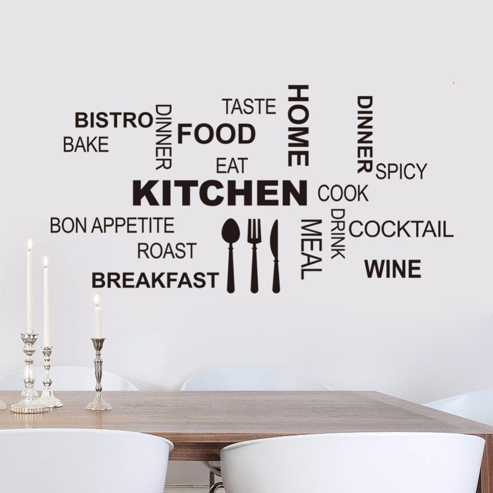 English Quotes Wall Sticker Vinyl Art Mural Decals Home Room DIY Decor