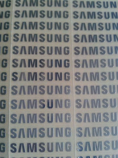 6pcs/lot free shipping silver stickers For samsung logo mark of metal stickers 3cm(height) for samsung galaxy s3 s4 s5
