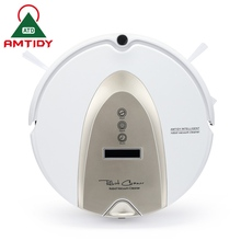 Amtidy Intelligent Robotic Vacuum Cleaner 2 Side Brushes Remote Control LCD Touch Screen Virtual Wall Robot Aspirador (China (Mainland))