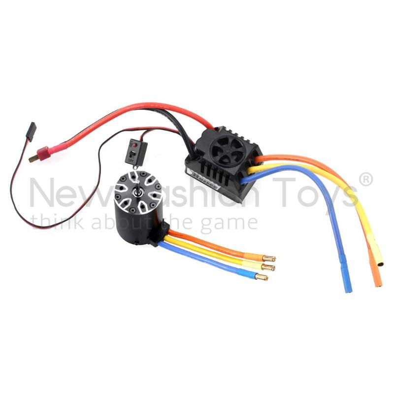 550 Sensorless Motor +80A ESC for 1/10th Cars 2600KV(Motor Shaft-5.0) RC R<br><br>Aliexpress