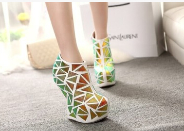 Europe and the United States big clubs spicy modelling fluorescent colours show female short boots shoes<br><br>Aliexpress