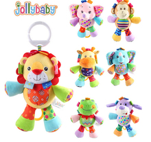 7pcs/lot new arrival cute Baby toy soft plush hanging toy Development Infant children Rattle Ring  Crib Bed Hanging Animal Toy(China (Mainland))