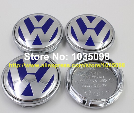 DHL 1000pcs 55mm VW Volkswagen Blue Chrome Wheel Center Cap Rims cover Emblem Badge For Volkswagen Wheel Hub Cap,P/N:1J06011171(China (Mainland))