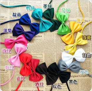 Wholesale 100pcs/lot mix colors dog bow tie pet ties can be used as head of flowers dog accessories free shipping(China (Mainland))
