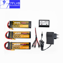 VOK Lipo battery 11.1V 3S 3500mAh 35C lithium batteries XT60 plug 2 or 3pcs and charger for rc drone Helicopter Airplane parts