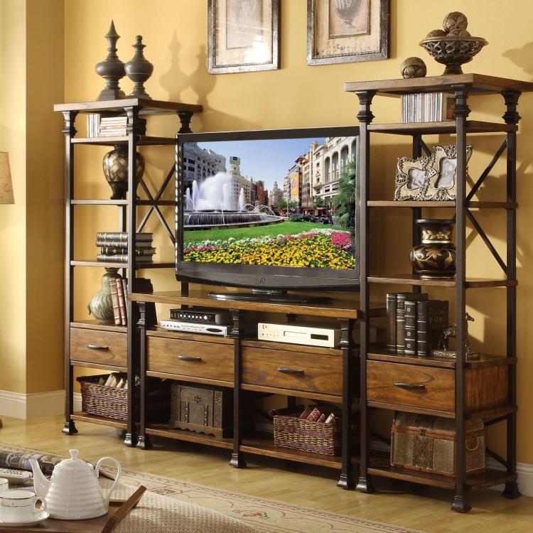 American rural retro iron wood Zhiwu LCD TV cabinet entrance cabinet drawer combination multifunction(China (Mainland))