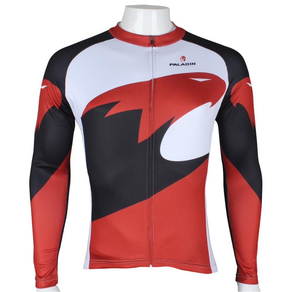 Hot Sale New Mens Cycling Jersey Biking Clothing Rider Shirt Wear Paladinsport Long Sleeve Bike Jersey Red Eagle(China (Mainland))