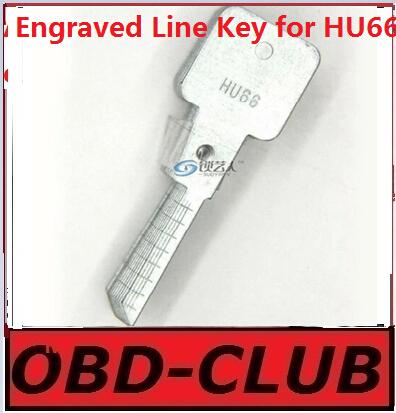 20pcs Original Engraved Line Key for 2 in 1 LiShi HU66 scale shearing teeth blank car key locksmith tools supplies(China (Mainland))