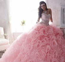 on Pink Puffy Quinceanera