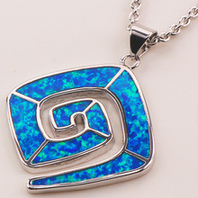 Blue Fire Opal 925 Sterling Silver Fashion Jewelry Pendant P159(China (Mainland))