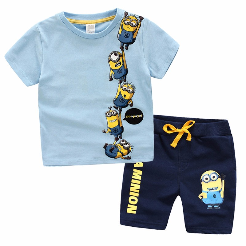 3 10 years children clothing set t shirt tops pants 100 for What size shirt for 8 year old boy