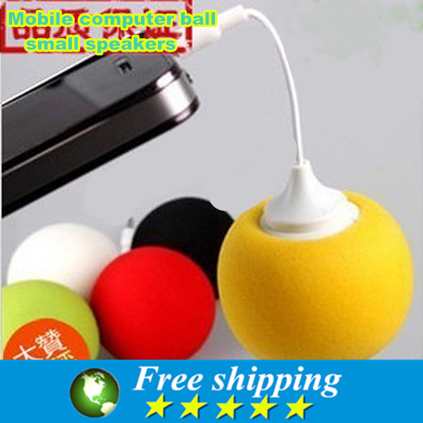 Computer music speakers portable good quality mobile phone 3 5 mm ball small speakers consumer
