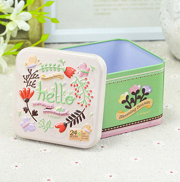 *Wooden Garden*High quality guarantee!Storage tin box for little things-Good as wedding/birthday gift box!(China (Mainland))