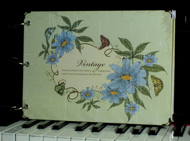 Vintage flower diy handmade photo album gift graduation gift