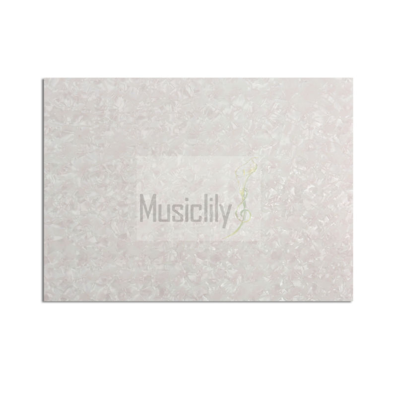 Pearl White 20x25cm Acoustic Guitar Blank Self Adhesive Plate Pickguard Custom Sheet Material(China (Mainland))