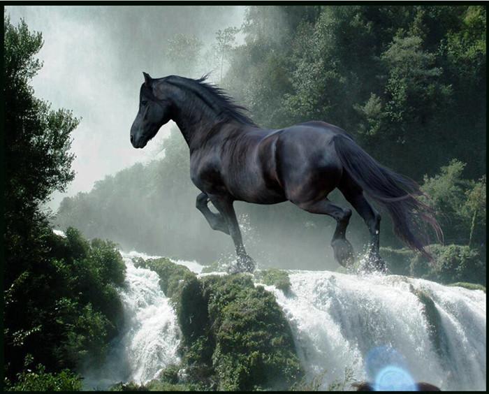 вышивки крестом лошадь
