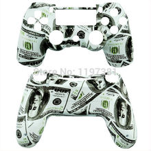 Newest $100 Dollar Bills Replacement Case Custom Full Replacement Shell Mod Kit In for Playstation 4 PS4 Controller