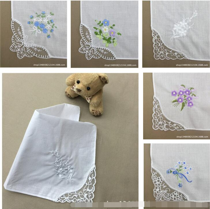 Ladies embroidered handkerchiefs promotion shop for