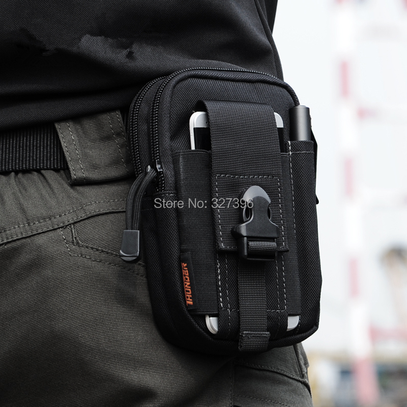 Molle Military Tactical Waist Bag Men EDC Army Fanny Pack Casual 5.7 inch Mobile Phone Belt Bag Outdoor Travel Sport Waist Pack(China (Mainland))