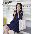 Hot Casual Canvas Tote Bags for Women Handbag Cute Egg Printing Big Bags for Women with