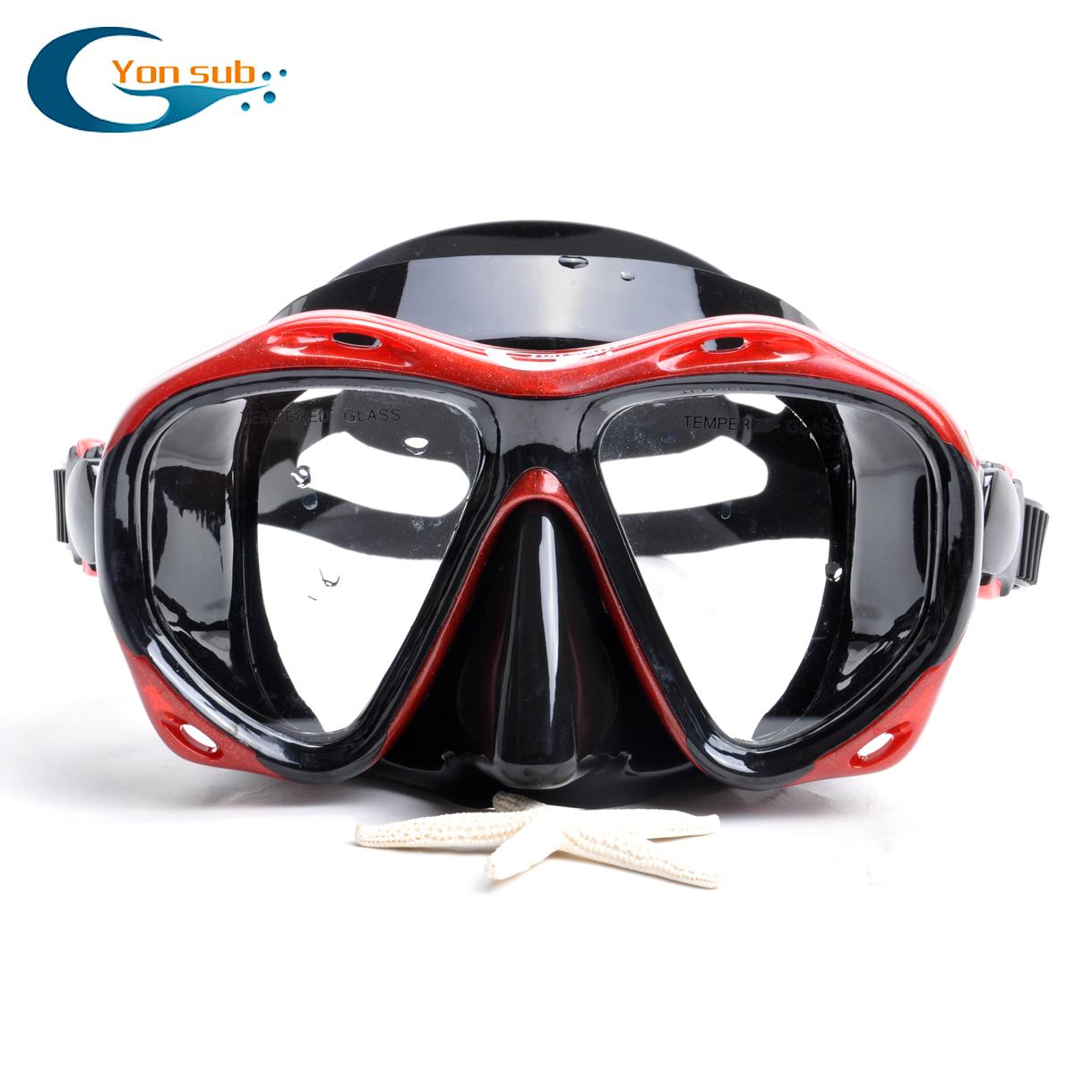 YonSub professional diving glasses Diving Snorkeling Sambo myopia / smooth surface mirror dry equipment package(China (Mainland))