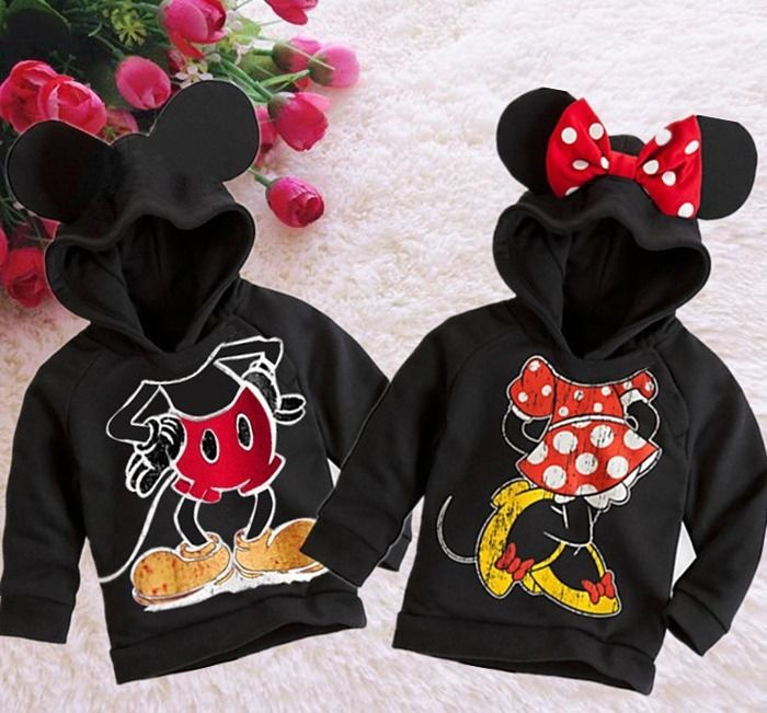 New Fashion Cute Kids Girls Boys Min nie Mouse Hooded Jacket Sweater Hoodie Coat 1 6Y