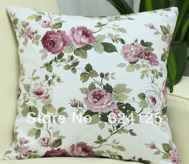 5pcs 45*45cm Free Shipping Pastoral style High quality cotton canvas Jacquard cushion cover pillow cases