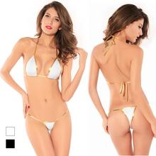 Günstige Sexy Micro mini tiny Brasilianische sling Dreieck bh tanga bikini dessous Set badebekleidung beachwear nachtwäsche erotische frauen(China (Mainland))
