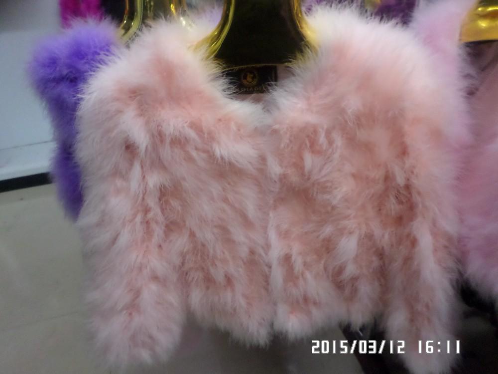 2015 autumn and winter ostrich fur coat wool outerwear short design long-sleeve turkey wool outerwear fur