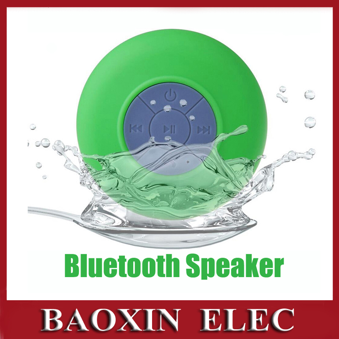 Waterproof Bluetooth Wireless Speaker Shower Car Handsfree Receive Call With Suction Cup Mic Portable Car Speakers(China (Mainland))